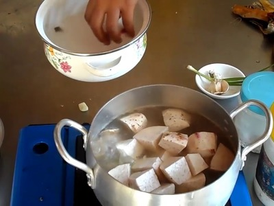 Food Khmer cooking in my village, How to cook   Pork and Trav #99