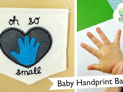 Handprint Wall Banner DIY - New Baby, New You | @laurenfairwx