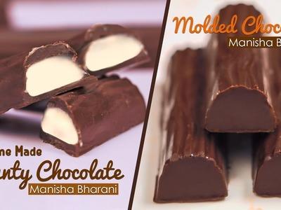 Homemade Bounty Chocolate | How To Make Bounty Bars - Molded Chocolate Tutorials