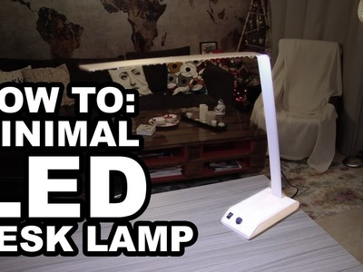 How to: DIY Minimal LED desk lamp