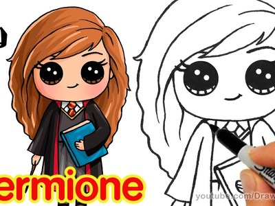 How to Draw Hermione step by step Chibi from Harry Potter