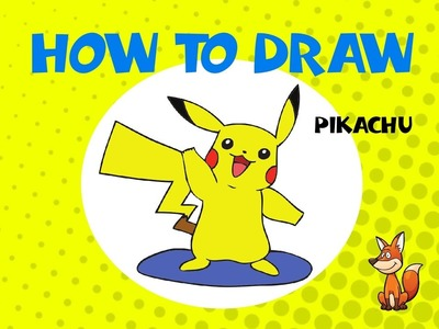 How to draw Pikachu of Pokemon - STEP BY STEP - DRAWING TUTORIAL