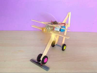 How to make a airplane with ice cream sticks - simple step by step tutorials