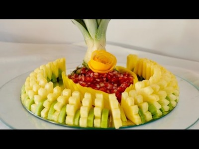 HOW TO MAKE A BEAUTIFUL SLICED FRUIT CENTER By J Pereira Art Carving
