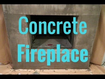 How to make a fireplace facing look like it's made out of concrete