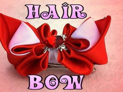 How to make a hair bow, Ribbon hair bow tutorial