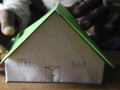 How to make a paper HUT very easy|Paper houses - How to Make a Cute Paper House|Funny Vidz