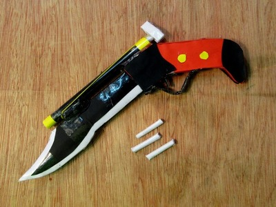 How to Make a Paper Toy Gun and Knife 2 in 1