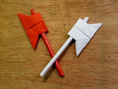 How to Make a Paper Toy Mini Battle Axe
