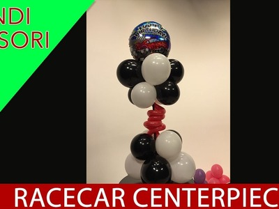 How To Make a Racecar Balloon Centerpiece