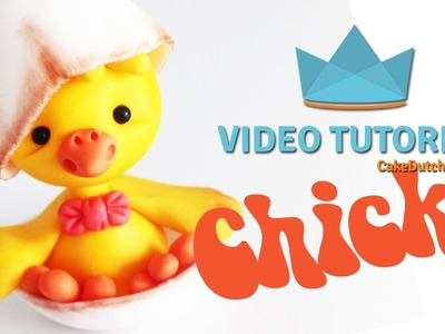 How to make an adorable Chick Cake Topper - Cake Decorating Tutorial