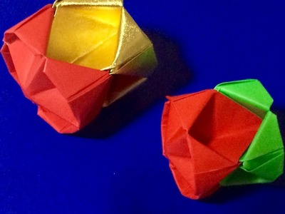 How to make an Origami Ball.    折り紙 くす玉