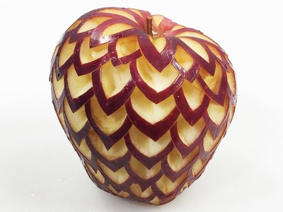How To Make Apple Carving - The In Fruit Carving Designs