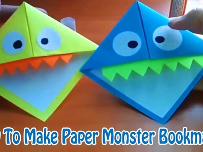 How To Make Paper monster bookmarks easy - step by step guide