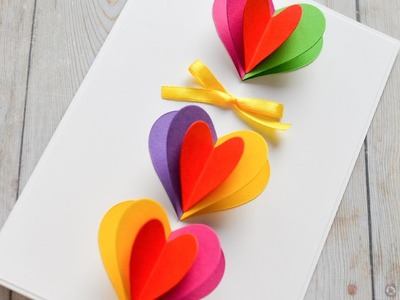 How to Make - Pop-Up Greeting Card Valentine's Day - Step by Step DIY | Kartka Walentynkowa