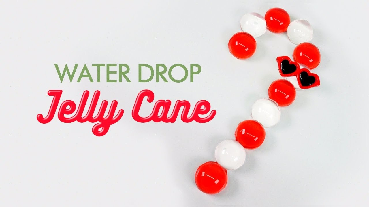 How To Make Water Drop Jelly Cane ! Raindrop Cake Deco & DIY Edible Colors Donuts Pudding Recipe