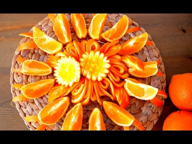 HOW TO QUICKLY CUT AND SERVE A ORANGE FLOWERS!!!!! BY Italypaul.co.uk