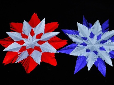Origami SNOWFLAKE - a Fuzz of Paper. Christmas Decorations