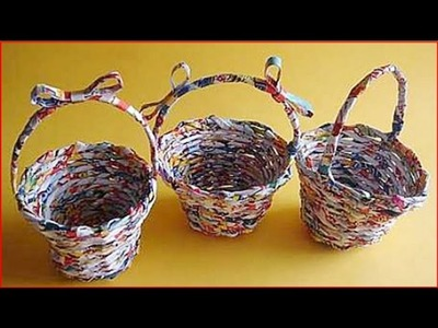 Paper Basket Making - Handmade Paper Crafts in Amma Arts | Paper Art