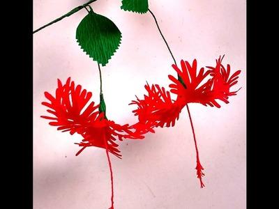 Paper Flowers Hibiscus Schizopetalus (flower # 104)