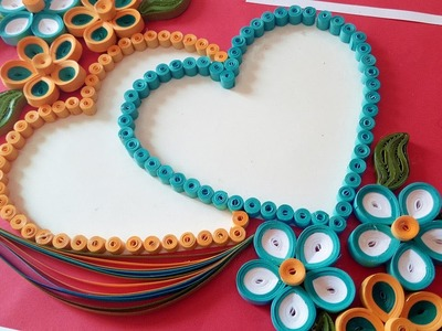 ☑️Paper Quilling ⏭How To Make a Beautiful heart shaped