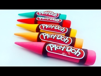 [Play Doh Cute]Learn Colors, How To Make Colors Play Doh Crayon For Kids