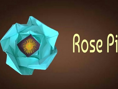 ROSE PIN Flower - Origami Tutorial from Paper Folds