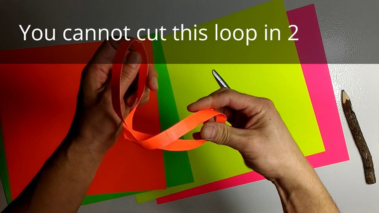 Strange? Can't cut a paper infinity loop in 2!