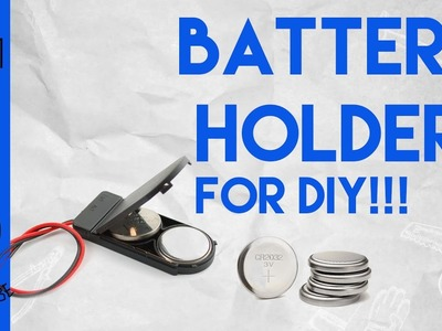 BUTTON CELL HOLDER WITH SWITCH FOR DIY