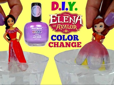 D.I.Y. Princess ELENA of AVALOR, Sofia the First Color Change Nail Mood Polish, Do-it-Yourself.TUYC