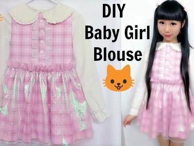 DIY Baby Doll Shimmering Blouse