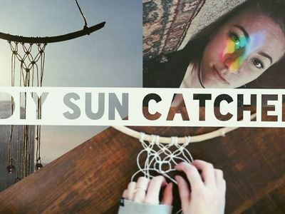 DIY Bohemian Home Decor. RAINBOW + SUN CATCHER