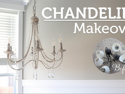 DIY Chandelier Makeover. Araña de Luces