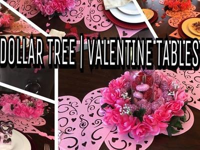 DIY | DOLLAR TREE | VALENTINE TABLESCAPE