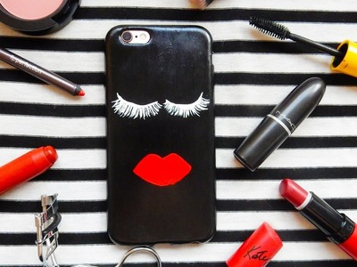 DIY Lips and Lashes Phone Case