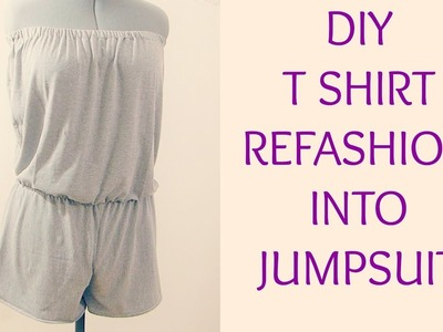 Diy t shirt refashion into jumpsuit