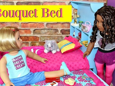 Doll Bouquet Bed | How To Make American Girl Doll Bed & Trundle