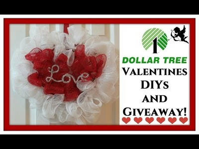 Dollar Tree DIY Valentine's Day | Giveaway(Closed)