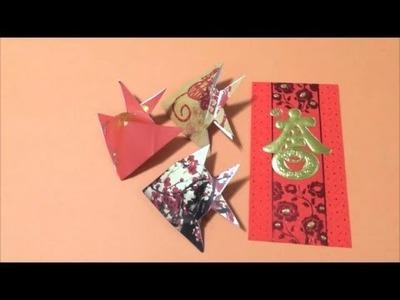 Easy Origami Tutorial CNY Red Packet Fish 简单手工折纸红包鱼.簡単折り紙红包鱼 です