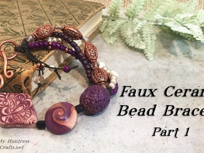 Faux Ceramic Bead Bracelet Part 1-Polymer Clay Jewelry Tutorial