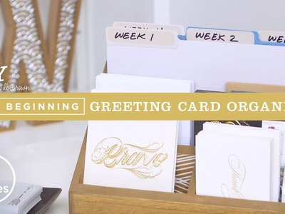 Greeting Card Organizer | DIY with Will Brown
