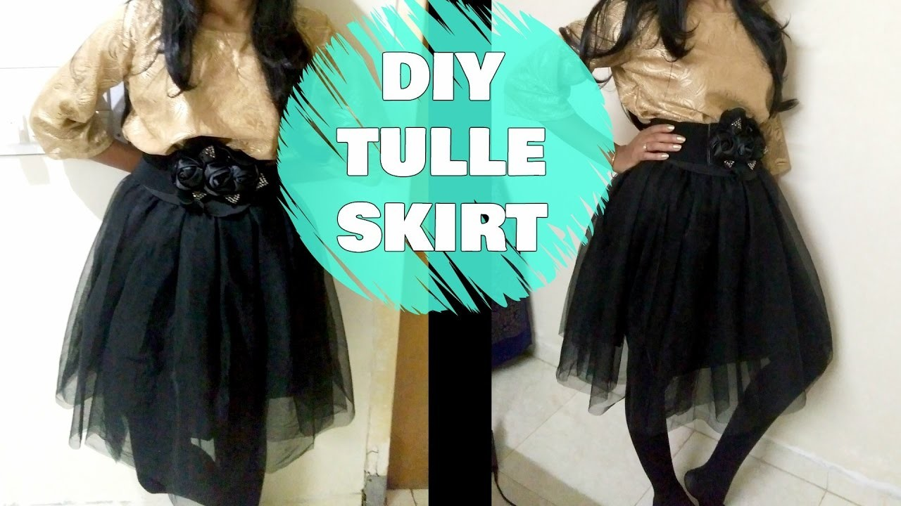 How to make a Tulle Skirt | DIY Tulle Skirt Easy Sewing