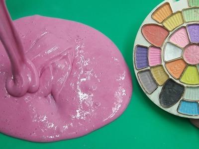 How to make Giant Pearl Slime with Eyeshadow, DIY Shiny Shimmery Eyeshadow Slime
