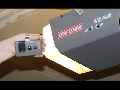 How to Program Craftsman Garage Door Opener remote DIY 1.2 HP and others