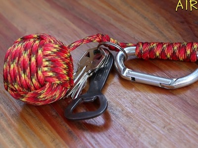 Kick ass Monkey Fist keychain with paracord and golf ball | DIY | Alreves