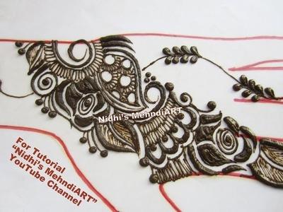 Latest 2017 DIY Rose Flower Arabic Henna Mehndi Design for Back Hand Tutorial