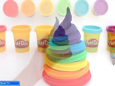 Learn Colors Play Doh Ice Cream DIY Modelling Clay Fun - Creative for Kids RL