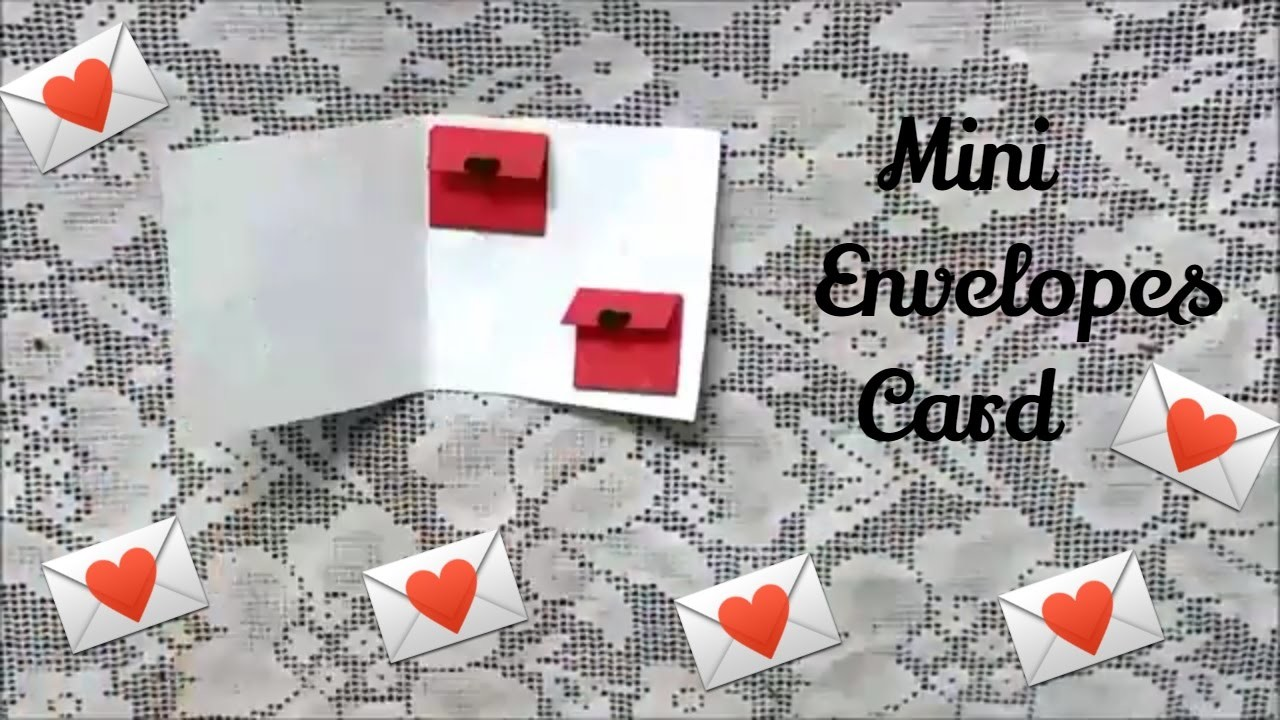 Mini Envelopes Card Cute Greeting Card For Valentines Day