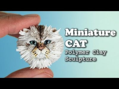 Miniature Cat Sculpture with Polymer Clay. Speed Sculpting