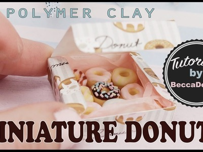 Miniature donuts - polymer clay tutorial